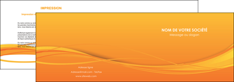 realiser depliant 2 volets  4 pages  orange couleur couleurs MIF70396