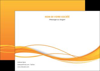 personnaliser maquette affiche orange couleur couleurs MIF70398