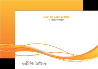 personnaliser maquette flyers orange couleur couleurs MIF70402