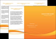 maquette en ligne a personnaliser depliant 3 volets  6 pages  orange couleur couleurs MIF70404