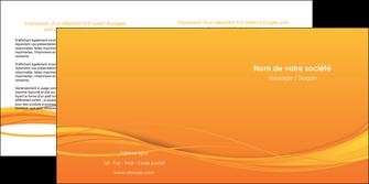 impression depliant 2 volets  4 pages  orange couleur couleurs MIF70408