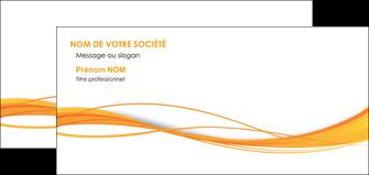 maquette en ligne a personnaliser carte de correspondance orange couleur couleurs MIF70416