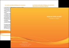 faire depliant 2 volets  4 pages  orange couleur couleurs MIF70418