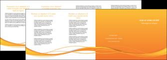 imprimerie depliant 4 volets  8 pages  orange couleur couleurs MIF70422