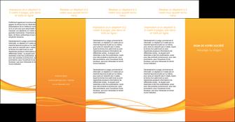 cree depliant 4 volets  8 pages  orange couleur couleurs MIF70426