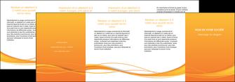 imprimerie depliant 4 volets  8 pages  orange couleur couleurs MIF70428
