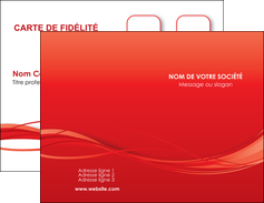 imprimer carte de visite rouge couleur couleurs MIF70492