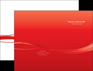 personnaliser modele de pochette a rabat rouge couleur couleurs MIF70494