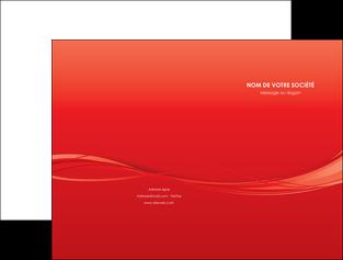 imprimer pochette a rabat rouge couleur couleurs MIF70496