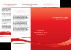 imprimer depliant 3 volets  6 pages  rouge couleur couleurs MIF70508