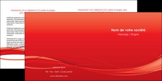personnaliser modele de depliant 2 volets  4 pages  rouge couleur couleurs MIF70512