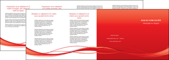 imprimerie depliant 4 volets  8 pages  rouge couleur couleurs MIF70526