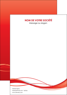 impression flyers rouge couleur couleurs MIF70528