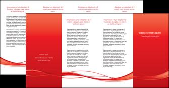 personnaliser modele de depliant 4 volets  8 pages  rouge couleur couleurs MIF70530