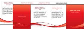 realiser depliant 4 volets  8 pages  rouge couleur couleurs MIF70532