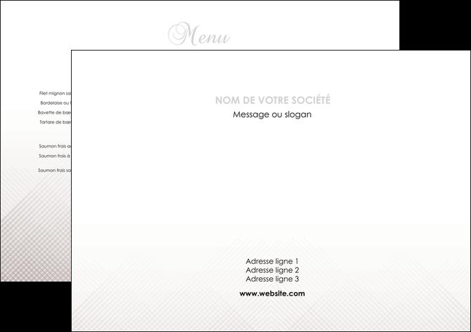 impression set de table gris simple sobre MLGI70700
