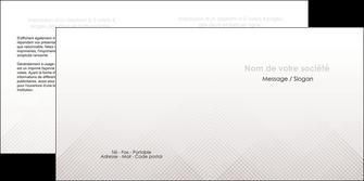 modele en ligne depliant 2 volets  4 pages  gris simple sobre MLGI70730
