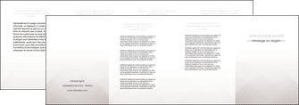 imprimer depliant 4 volets  8 pages  gris simple sobre MLGI70742