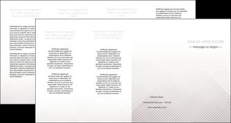 imprimer depliant 4 volets  8 pages  gris simple sobre MLGI70746