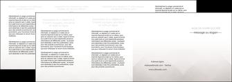 maquette en ligne a personnaliser depliant 4 volets  8 pages  gris simple sobre MLGI70748