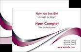 imprimer carte de visite web design rose fushia couleur MLGI70760