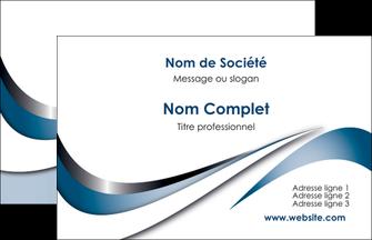 Exemple Carte De Visite Web Design Bleu Fond Couleurs Pastels MLGI70812