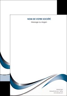personnaliser maquette affiche web design bleu fond bleu couleurs pastels MIF70820