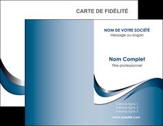 imprimer carte de visite web design bleu fond bleu couleurs pastels MIF70822