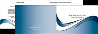 maquette en ligne a personnaliser depliant 2 volets  4 pages  web design bleu fond bleu couleurs pastels MIF70828