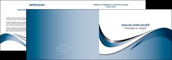 realiser depliant 2 volets  4 pages  web design bleu fond bleu couleurs pastels MIF70830