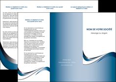 faire modele a imprimer depliant 3 volets  6 pages  web design bleu fond bleu couleurs pastels MIF70838