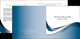 impression depliant 2 volets  4 pages  web design bleu fond bleu couleurs pastels MIF70842