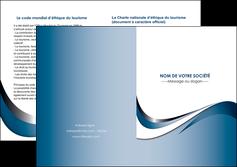 imprimerie depliant 2 volets  4 pages  web design bleu fond bleu couleurs pastels MIF70852