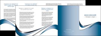 faire depliant 4 volets  8 pages  web design bleu fond bleu couleurs pastels MIF70856