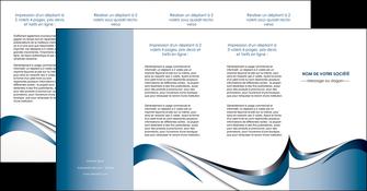 personnaliser maquette depliant 4 volets  8 pages  web design bleu fond bleu couleurs pastels MIF70860