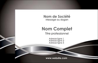 personnaliser maquette carte de visite web design noir fond gris simple MLGI70968