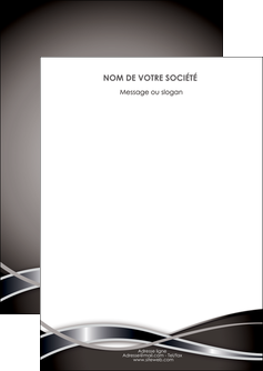 modele en ligne flyers web design noir fond gris simple MLGI70972
