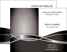 personnaliser modele de carte de visite web design noir fond gris simple MLGI70978