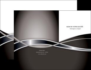 personnaliser maquette pochette a rabat web design noir fond gris simple MLGI70980