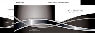 imprimerie depliant 2 volets  4 pages  web design noir fond gris simple MIS70984
