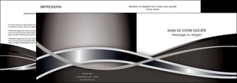 realiser depliant 2 volets  4 pages  web design noir fond gris simple MIS70986