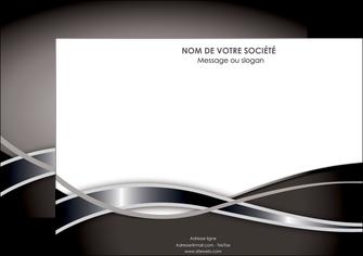 impression affiche web design noir fond gris simple MIS70990
