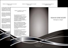 maquette en ligne a personnaliser depliant 3 volets  6 pages  web design noir fond gris simple MLGI70994