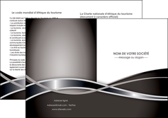 exemple depliant 2 volets  4 pages  web design noir fond gris simple MLGI71008
