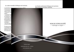 exemple depliant 2 volets  4 pages  web design noir fond gris simple MIS71008