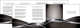 faire depliant 4 volets  8 pages  web design noir fond gris simple MLGI71012