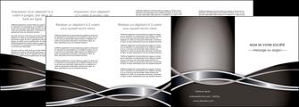 faire depliant 4 volets  8 pages  web design noir fond gris simple MIS71012