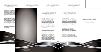exemple depliant 4 volets  8 pages  web design noir fond gris simple MLGI71016