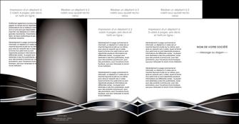 exemple depliant 4 volets  8 pages  web design noir fond gris simple MIS71016