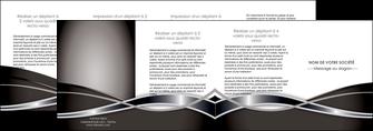 realiser depliant 4 volets  8 pages  web design noir fond gris simple MIS71018
